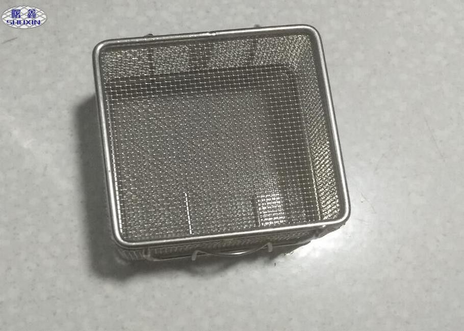 Medical Disinfection Stainless Steel Wire Mesh Baskets Corrosion Resistant