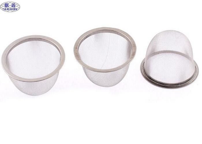 Small Stainless Steel Wire Mesh Baskets , Durable Herb Metal Wire Baskets Container