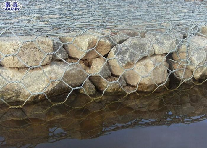 Pvc Coated Galvanized Erosion Control Gabion Baskets For River / Bank Slope